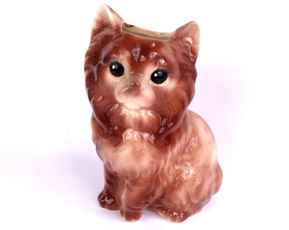 Vintage 1960's Ceramic Kitty Planter Container by J.M Creations