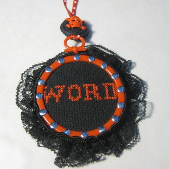 Word -  Mini Framed Cross Stitch
