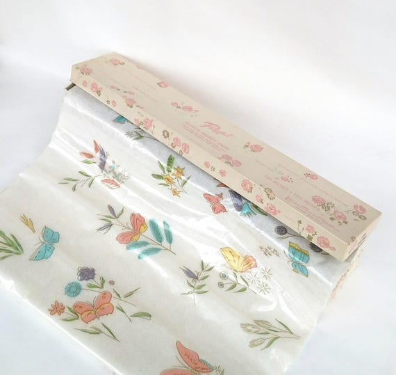 Vintage 1960's Karen Carson Creations Polyfab Scented Floral Shelf Lining in Box