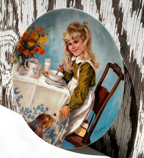 Becky's Day - Breakfast - Vintage 1985 Reco Collector's Plate by Knowles - with COA