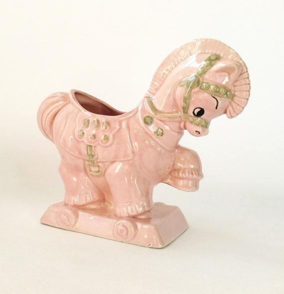 Vintage Thomas Ceramics Pink Pony Planter