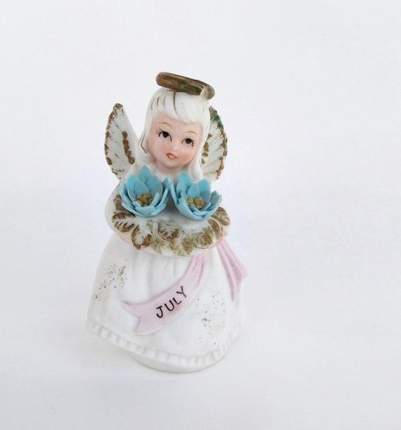 Vintage Porcelain July Birthday Angel by Lefton