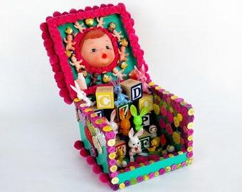 Honey Bunny Cigar Box Assemblage Altar