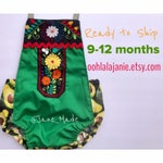 RTS 9-12 months Mexican Embroidered Romper