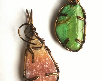 pdf - Prong-Set Wire Wrapped Pendant (Instructions)