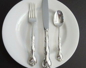 Gorham Rondo Sterling Silver Place Setting Knife Fork Spoon No Monogram 1951