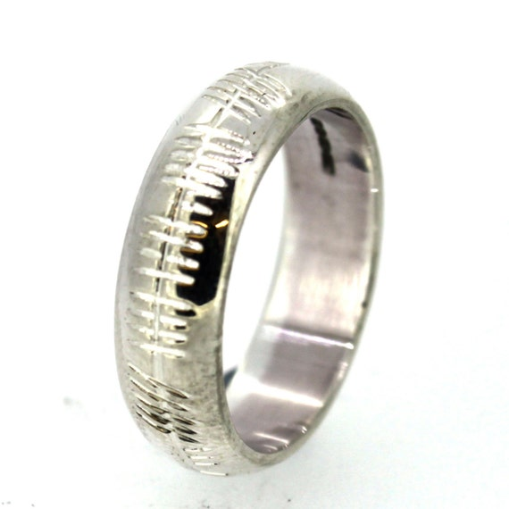 Wedding Ring With Ogham Engraving
