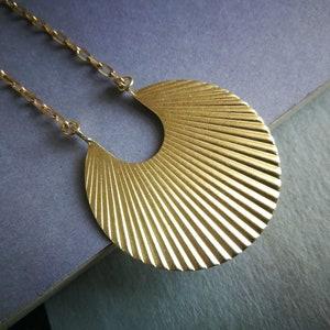 Brass Art Deco Necklace Pearl Art Deco Boho Chic Necklace Geometric Brass Necklace Dainty Boho Chic Bohemian Jewelry Pearl Necklace