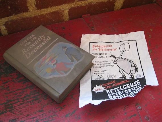 Beetlejuice Movie Handbook for the Recently Deceased Lapel Pin US Seller