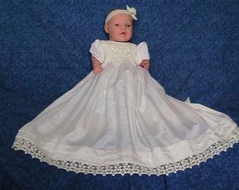 43e8e794e Silk hand smocked Christening/Blessing Dress | Etsy