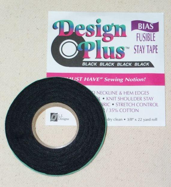 Black Iron On Fusible Bias Tape Sew Easy ER519.BLK