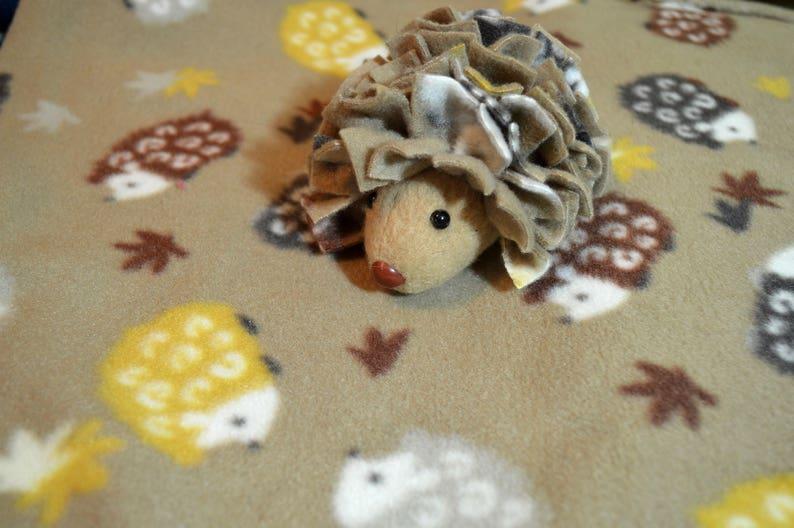 PREMADE Woodland Hedgehog Fleece Bonding Pouch Bag or Purse wScreen for Hedgehog Rat Sugar Gliders or Small Pet