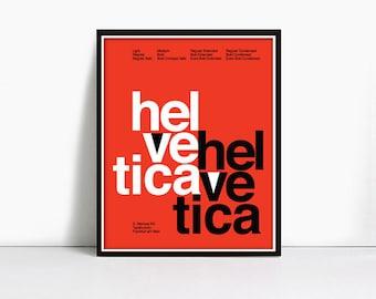 24x36 Inch Gicleè Suisse Swiss Helvetica Type Specimen Poster