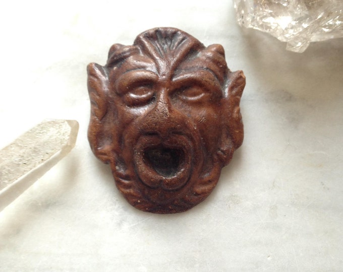 Unusual composite devil or gargoyle pin, likely 1930-1940s.