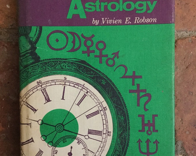1972 Electional Astrology by V. E. Robson. Zodiac, horoscope, stars, mystic, fortune telling book