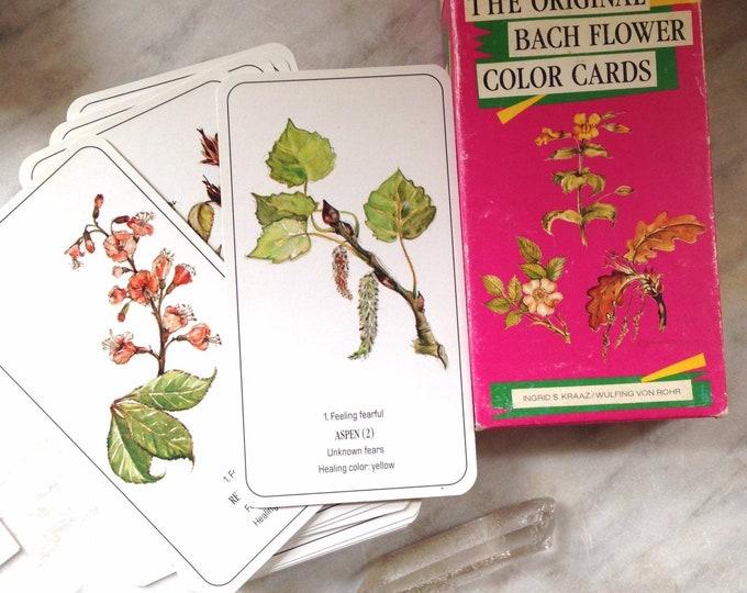 The Original Bach Flower Color Cards - First Edition 1989 - Bach Flower Essences Botanical Healing Cards for divination & meditation