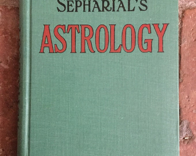 1920's Sepharial's Astrology first edition, rare. Zodiac, horoscope, stars, mystic, fortune telling book