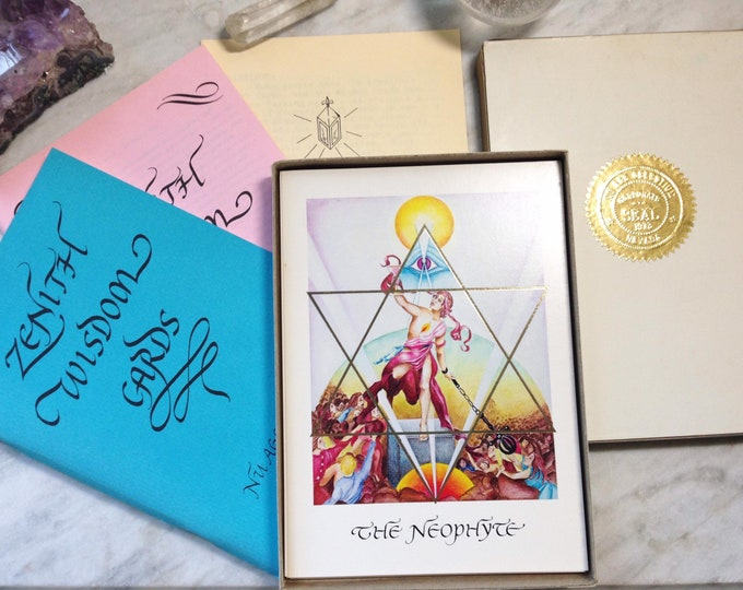 Zenith Wisdom cards by Nu Age Ashram, rare tarot card deck prototype set, fortune telling esoteric