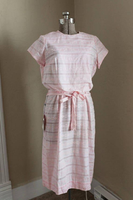 KERRYBROOKE *MINT* 50s 60s pink cotton belted day