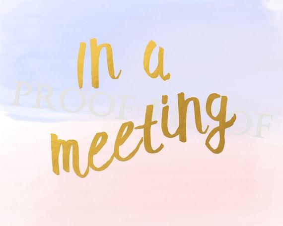 meeting in progress sign printable