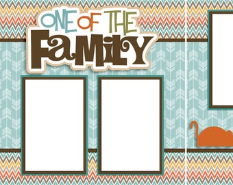 One of the Family Cat - Digital Scrapbooking Quick Pages - INSTANT DOWNLOAD
