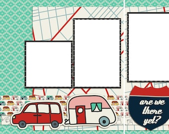 Are We There Yet? - Digital Scrapbooking Quick Pages - INSTANT DOWNLOAD