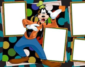 Goofy - Digital Scrapbooking Quick Pages - INSTANT DOWNLOAD