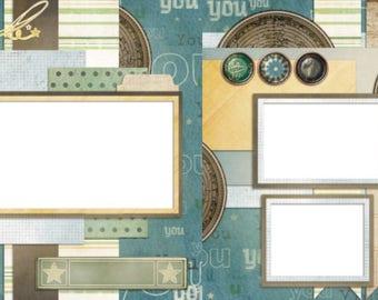 Wonderful Creation - Digital Scrapbook Quick Pages - INSTANT DOWNLOAD