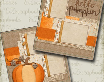 Autumn 2 Premade Scrapbook Pages EZ Layout 4414