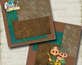 2 Premade Scrapbook Pages How We Do Family NPM EZ Layout 4403