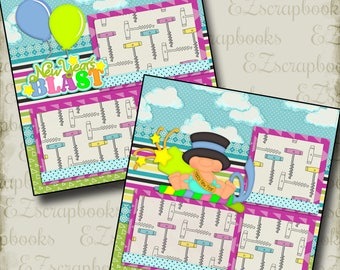 Happy New Year EZ Layout 2689 2 Premade Scrapbook Pages NPM