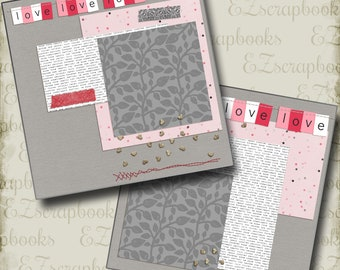 Premade Scrapbook Pages ADVENTURE STARTS HERE EZ Layout 2082