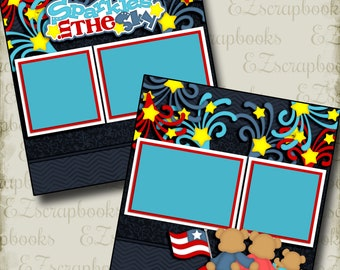 EZ Layout 261 BLISS Premade Scrapbook Pages