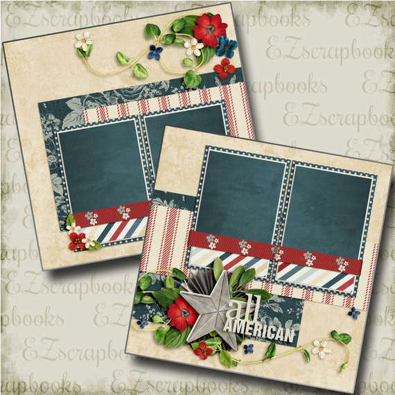 EZ Layout 16 2 Premade Scrapbook Pages TIS THE SEASON