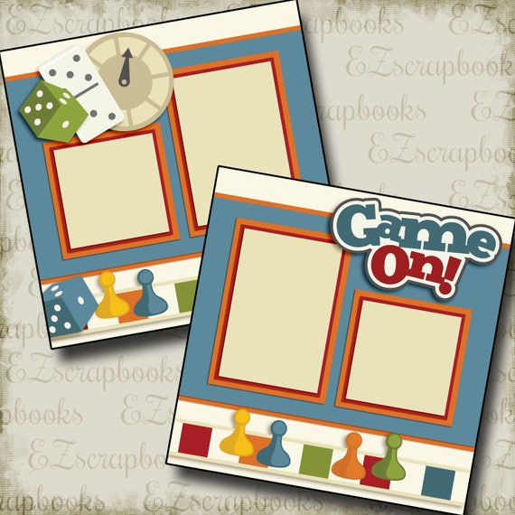 Adorable Baby Blue EZ Layout 4078 Premade Scrapbook Pages