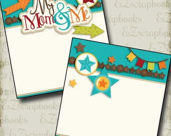My Mom and Me Boy NPM - Mother's Day - 2 Premade Scrapbook Pages - EZ Layout 2567