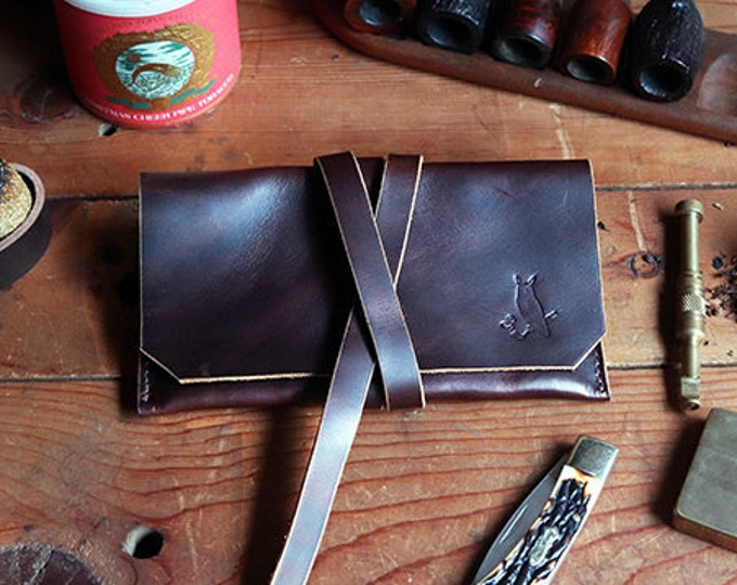 The Gent Pipe Pouch * Oil-Tanned, Dark Coffee Leather