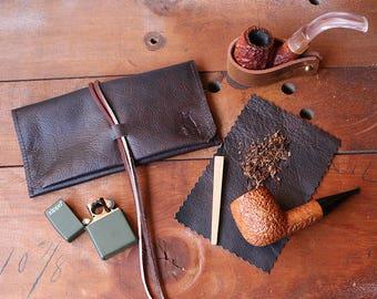 Leather Pipe Roll * Leather Pipe Pouch * Leather Pipe Holder * Leather Pipe Bag * Leather Pipe Case * Leather Pipe Tobacco pouch Tobacco Mat