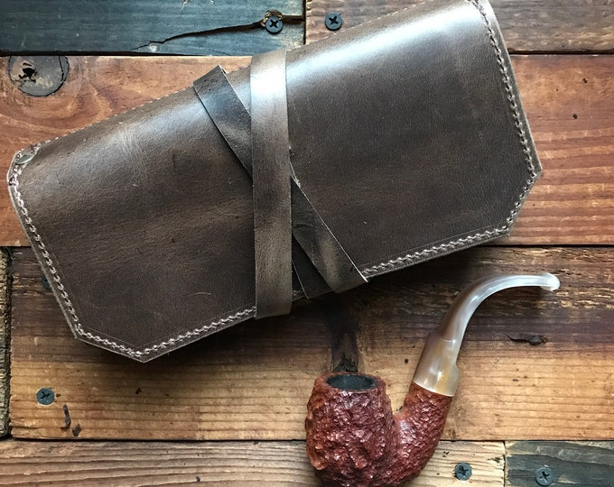 The Original Standard Pipe & Tobacco Pouch * Maduro Brown Crazyhorse Leather