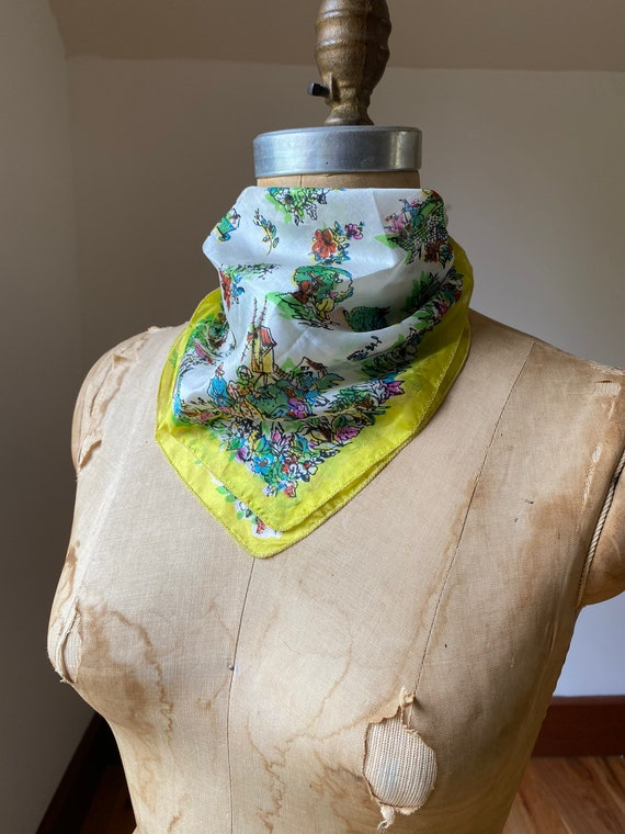 Collection of five vintage dress scarves, one pri… - image 5