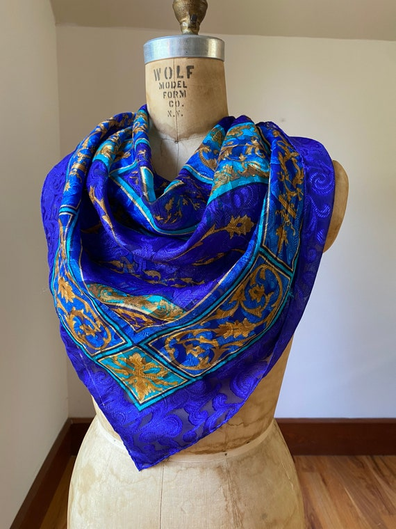 Collection of five vintage dress scarves, one pri… - image 4