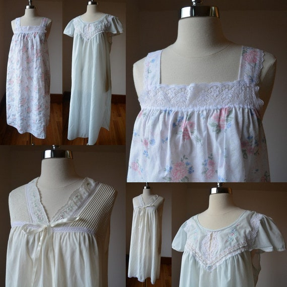 Vintage Bundle Of Three Beautiful Negligees And Ni
