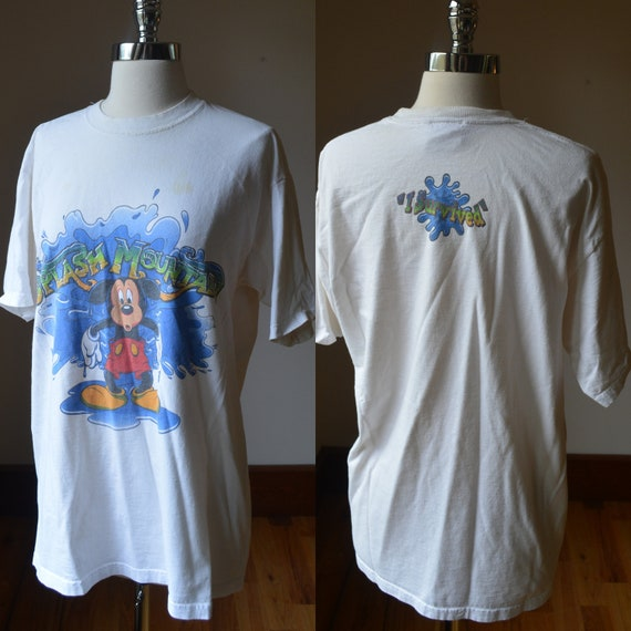 90's Vintage Mickey Mouse Splash Mountain T-shirt