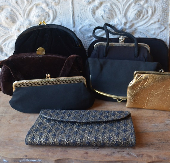Collection Of Eight Formal Mid Century Clutches, C