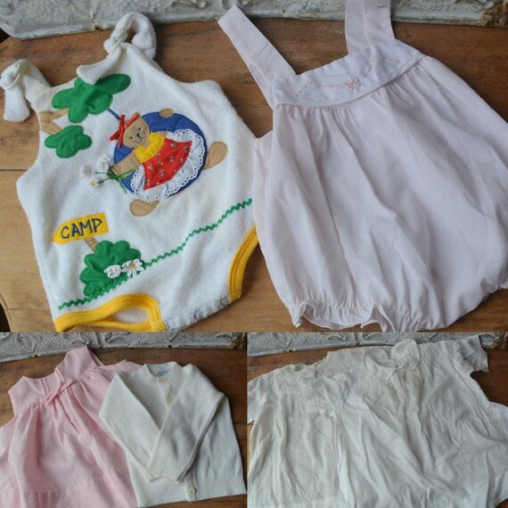 Beautiful Vintage Collection Of Baby Girl Dresses,