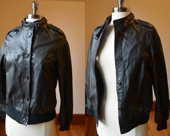 Vintage Eighties Leather Jacket Size Women's Small