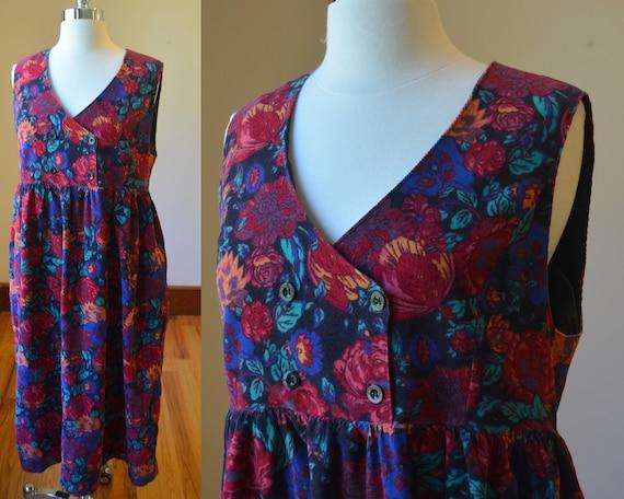 90's Vintage Laura Ashley Corduroy Jumpsuit Size 1