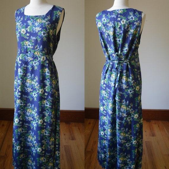 Vintage April Cornell Floral Farm Dress Size Mediu