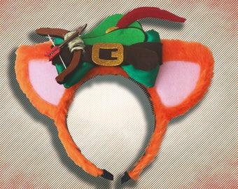 Robin Hood Mouse Ear Headband with Bow