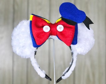 Classic Duck Mouse Ear Headband with Bow 1af2bccfce7